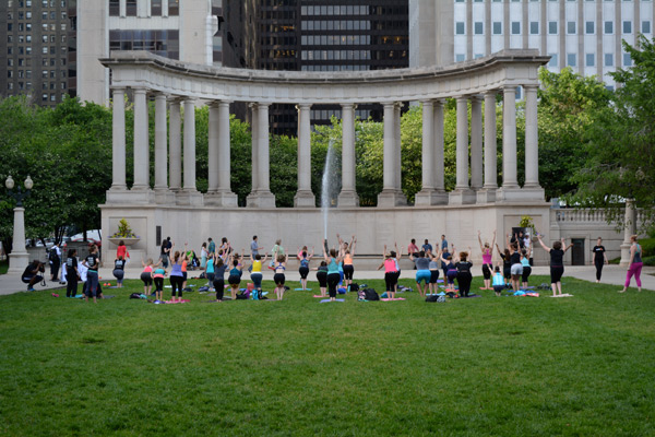 Yoga-in-Millenium-Park