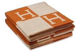 Hermes-Orange-Blanket