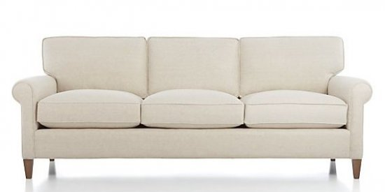 "Traditional ""Rolled Arm"" Sofa"