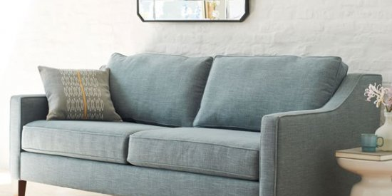 Modern Take On A Traditional Curved Arm Sofa